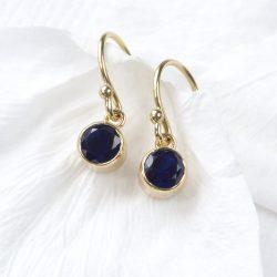Sapphire Birthstone Earrings in 18ct Gold