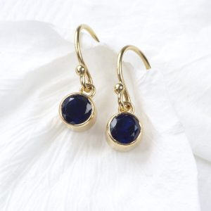 Sapphire Birthstone Earrings in 18ct Gold