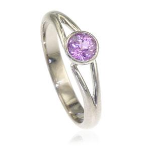 Sapphire Split Shank Ring