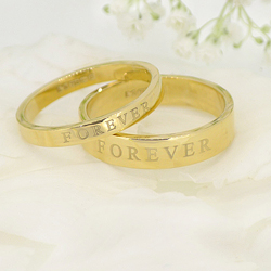 Forever 18ct gold ring set