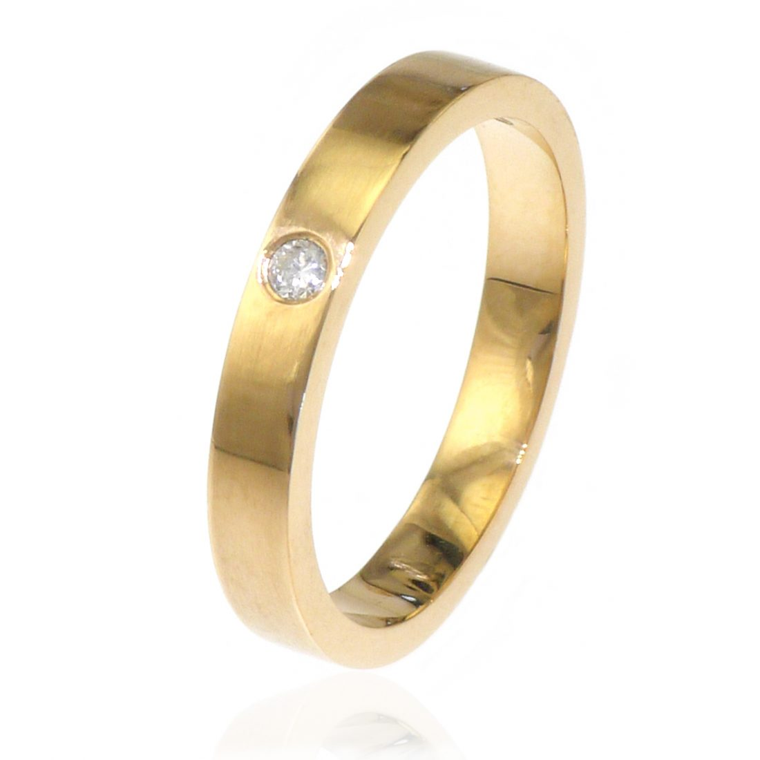 Diamond Wedding Ring in 18ct Gold