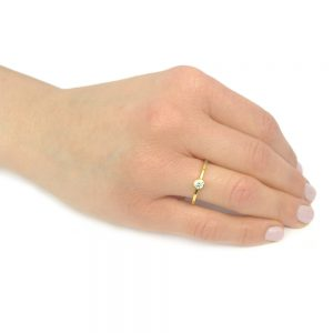 Diamond Engagement Ring on the hand