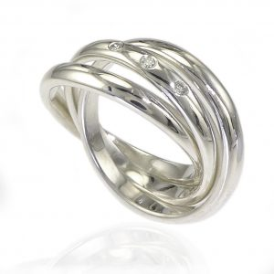 Russian Wedding Ring in Silver
