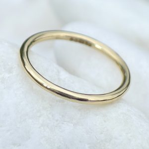 Slim Halo Wedding Band
