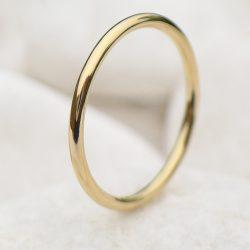 Thin Gold Wedding Ring