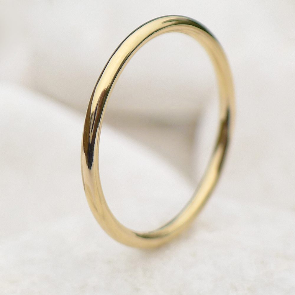 awesome ring thin wedding gold yellow solid luxury new band rings elegant