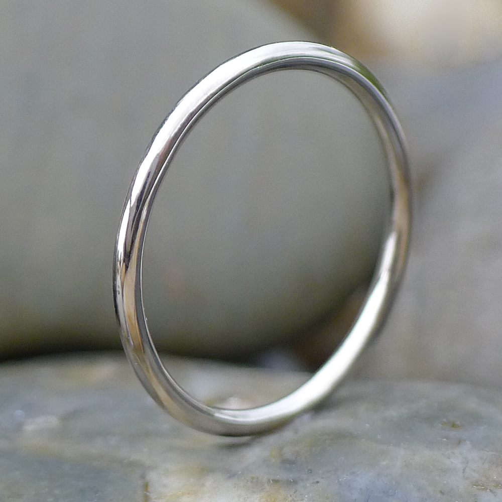 1.5mm Halo Wedding Ring in 18ct White Gold