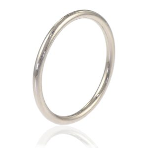 1.5mm Halo Wedding Ring in 18ct White Gold - Sizes L and Q-168