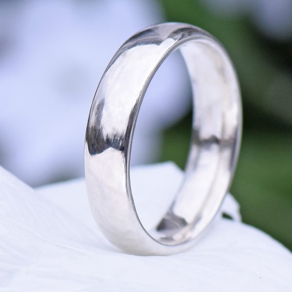 5mm comfort fit silver ring