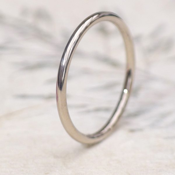 1.5mm white gold halo ring