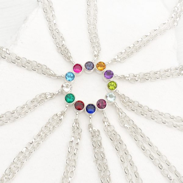 selection of birthstone bracelets