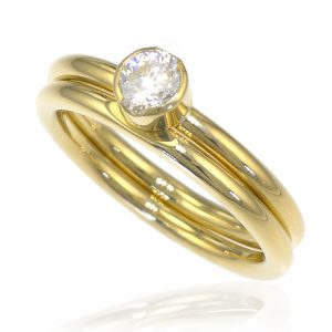 Diamond Bridal Ring Set - Size N-133