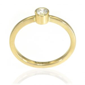 Diamond Solitaire Engagement Ring - Size N 1/2-132