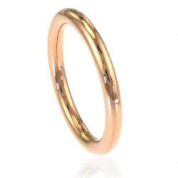 2.5mm Halo Wedding Ring in 18ct Gold (rose, yellow or white)-215