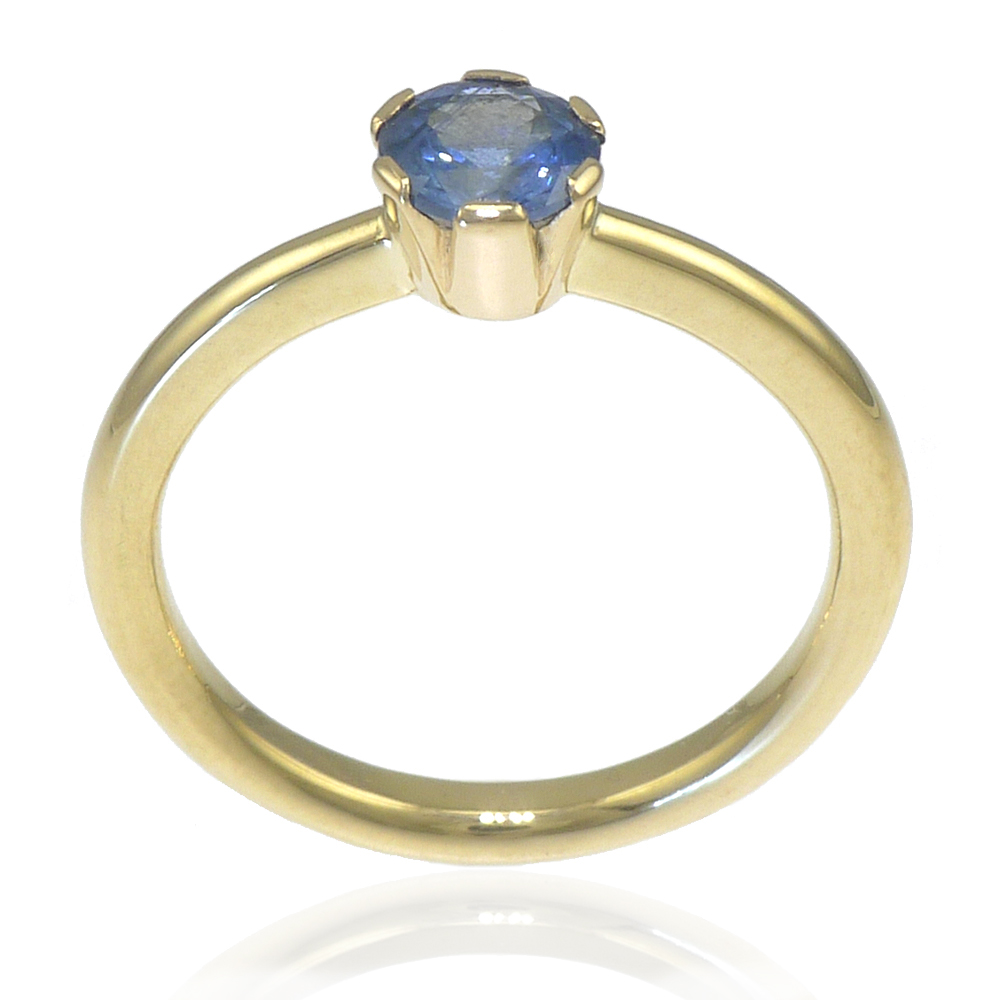 Ethical Blue Sapphire Engagement Ring