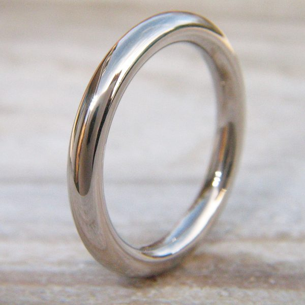 2.9mm halo wedding ring - 18ct white gold version