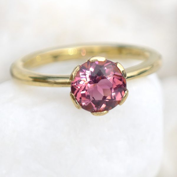 Pink Tourmaline Ring in 18ct Gold