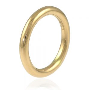 2.9mm halo wedding ring - 18ct yellow gold version