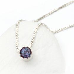 june birthstone necklace, alexandrite