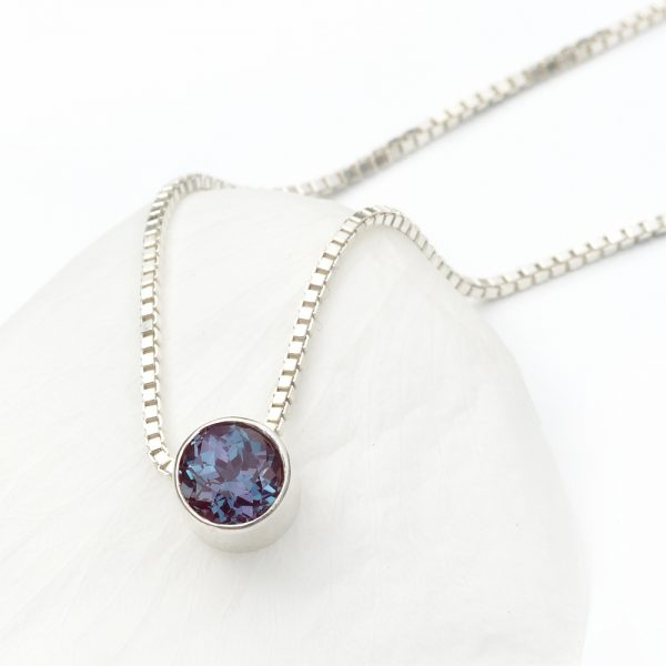 june birthstone necklace, alexandrite