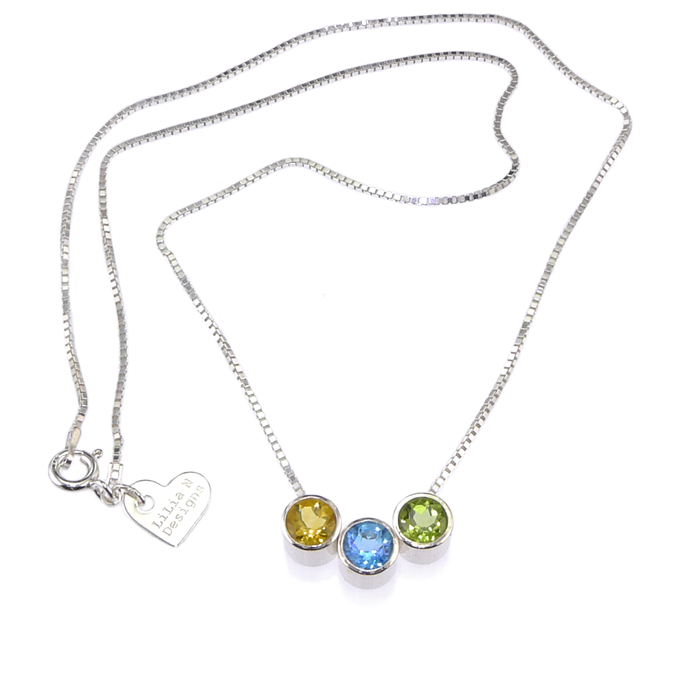 Birthstone Slider Necklace displaying tag