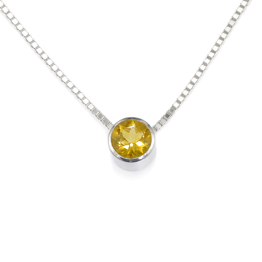 Citrine Birthstone Necklace (November)