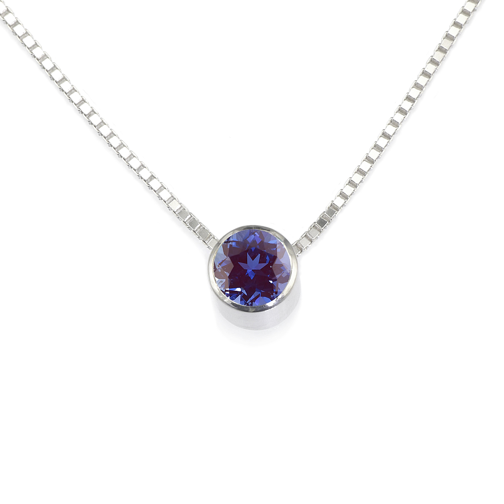 Alexandrite Birthstone Necklace (June)