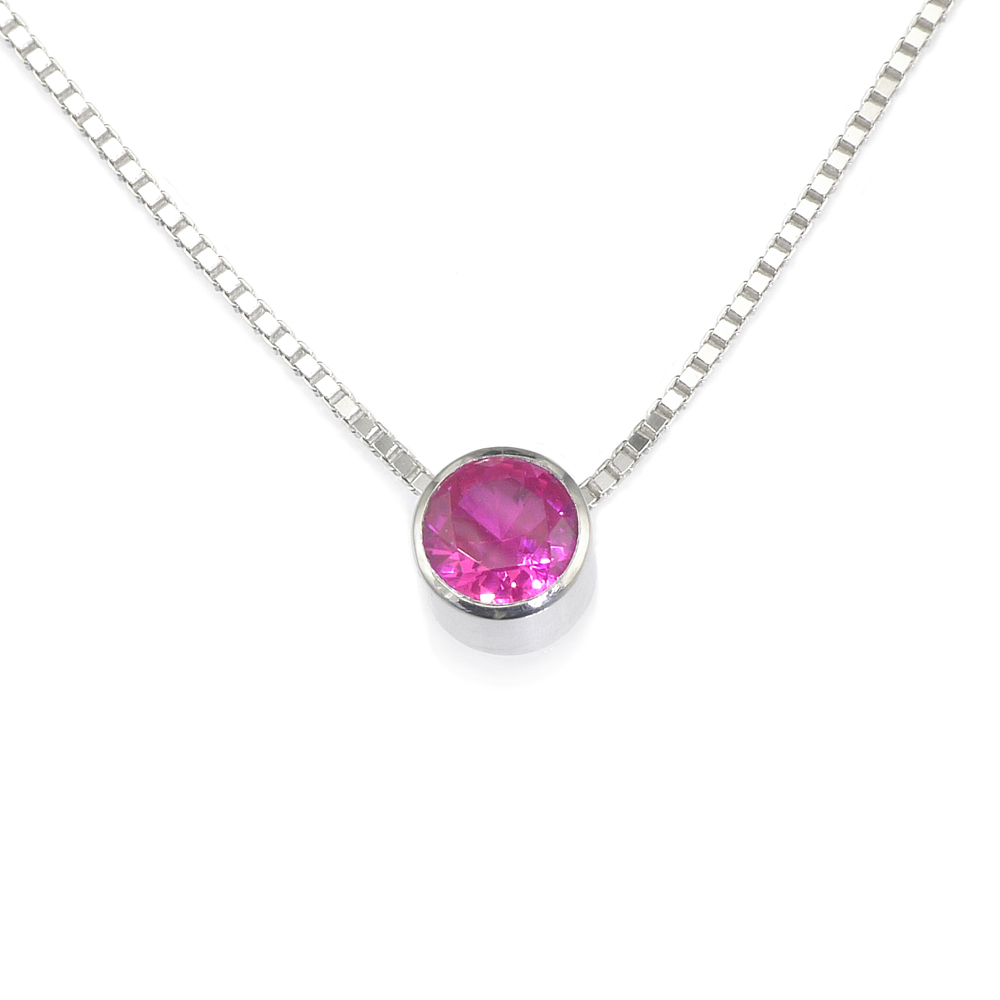 Ruby Birthstone Necklace (July)