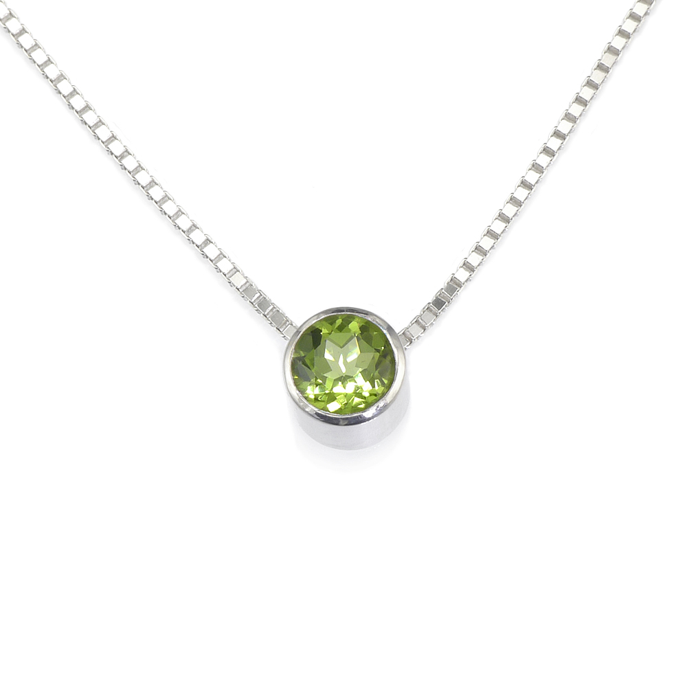 Peridot Birthstone Necklace (August)