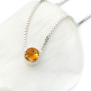 November birthstone necklace, citrine