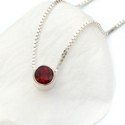 january birthstone necklace, garnet