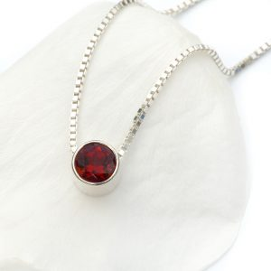 january birthstone necklace, garnet