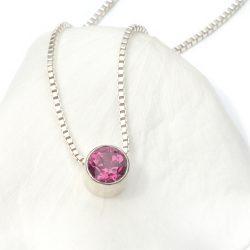 october birthstone necklace, tourmaline