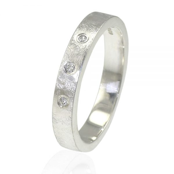 Urban Diamond Wedding Ring in Sterling Silver-418