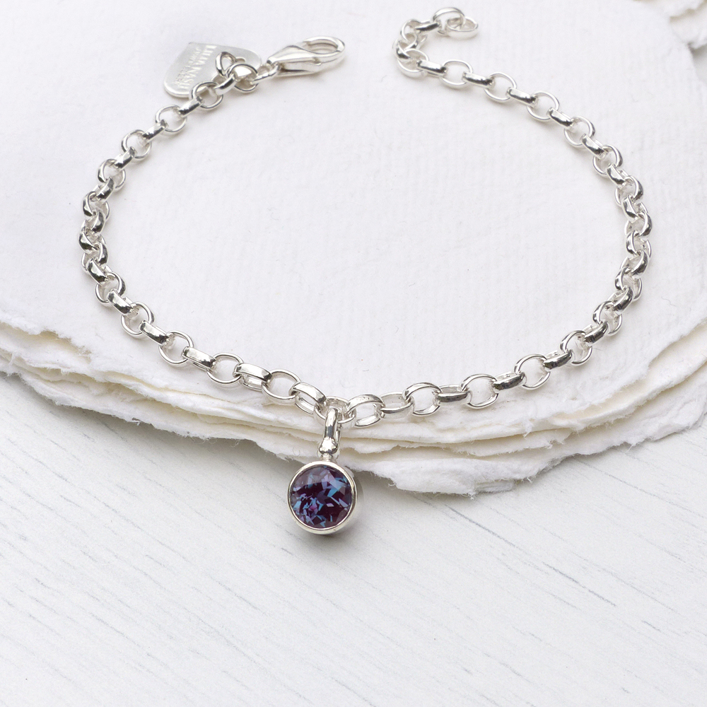 bracelet silver zomi kids copy birthstone gems products little zoe