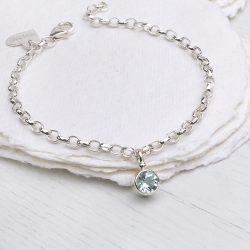 march birthstone bracelet