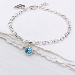 December birthstone bracelet