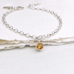 november birthstone bracelet