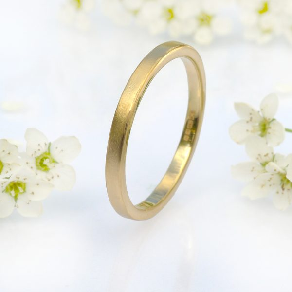 2mm flat wedding ring