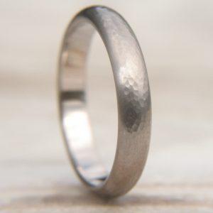 Men's Hammered Gold Wedding Ring