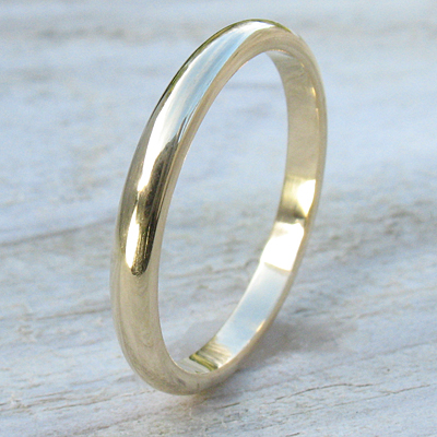2mm Plain Gold Wedding Ring