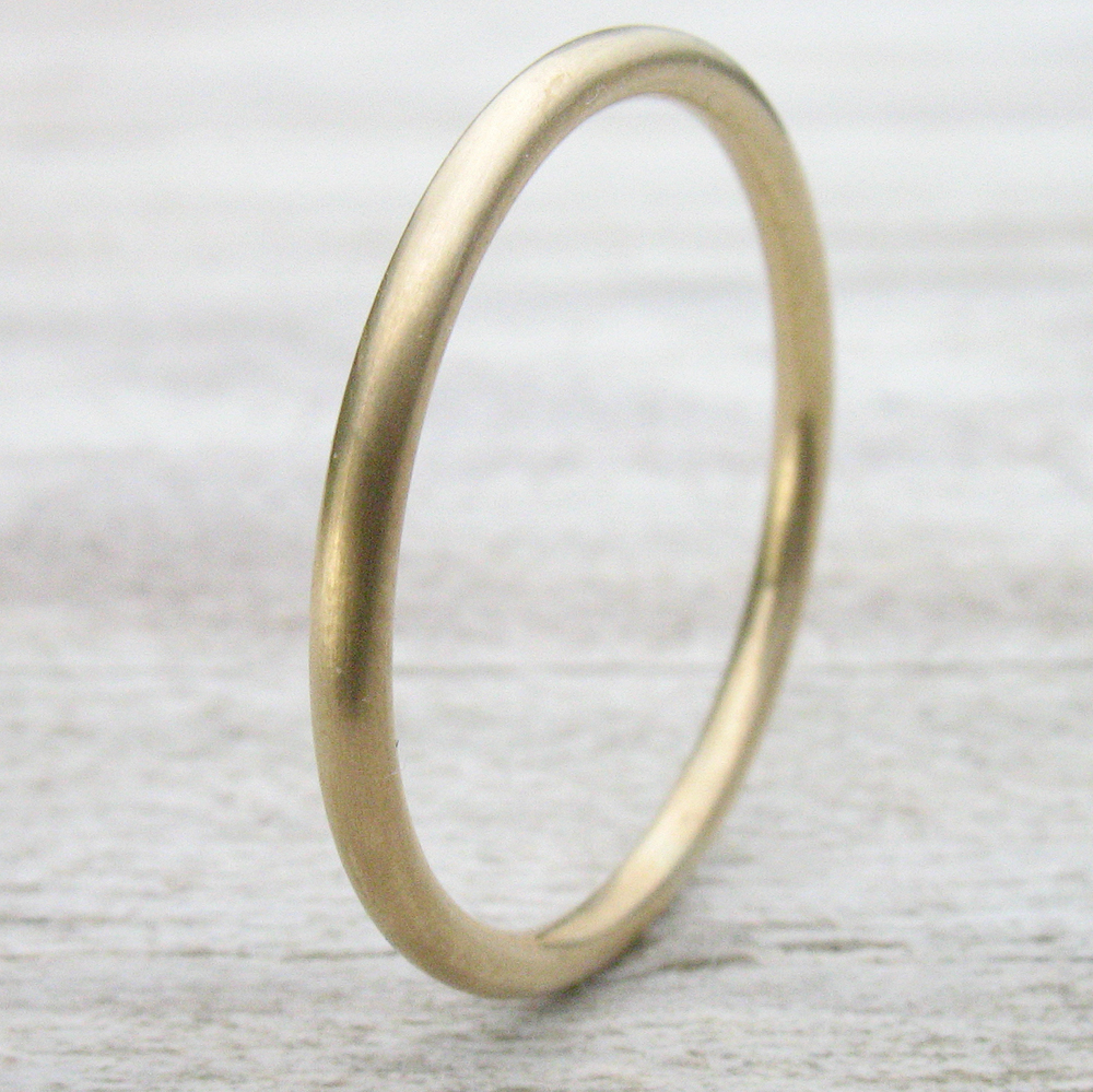 Thin Wedding Ring with Matte Finish