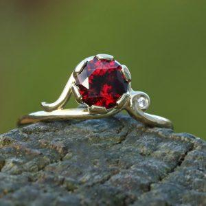 garnet engagement ring