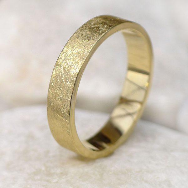 Contemporary Gold Wedding Ring