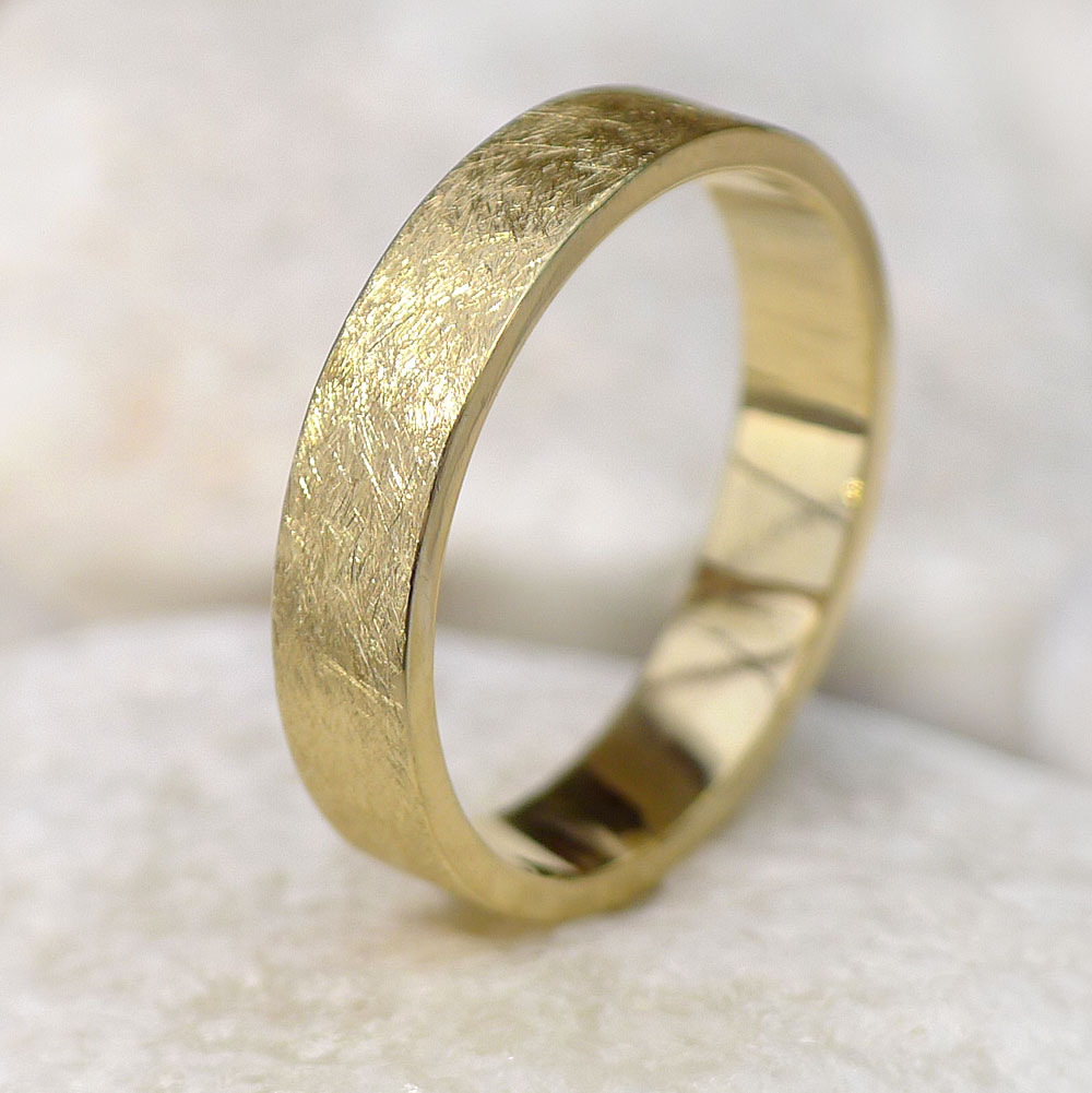 Contemporary Gold Wedding Ring