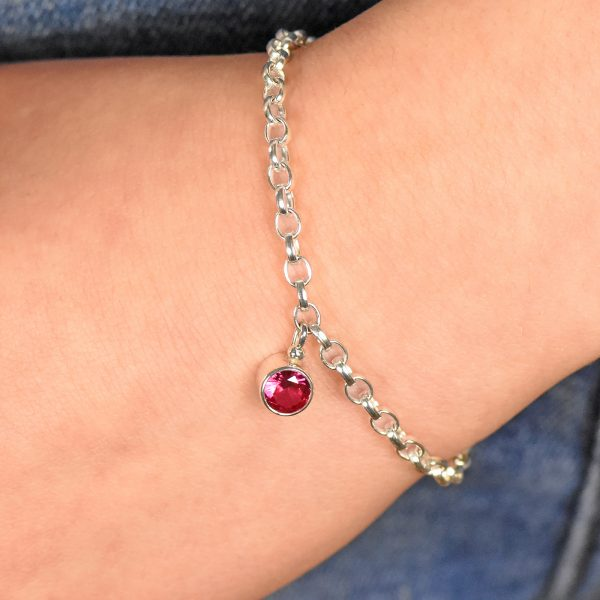 ruby bracelet, july birthstone