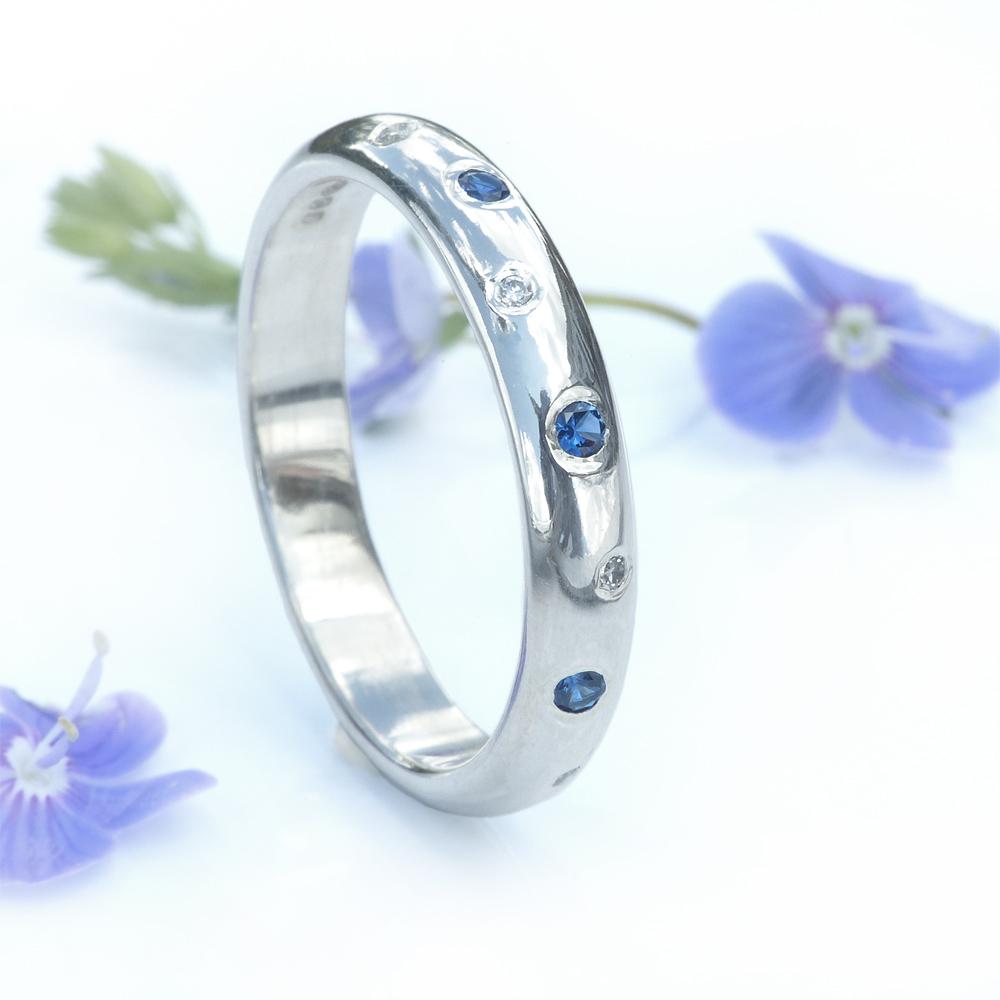 blue sapphire and diamond ban