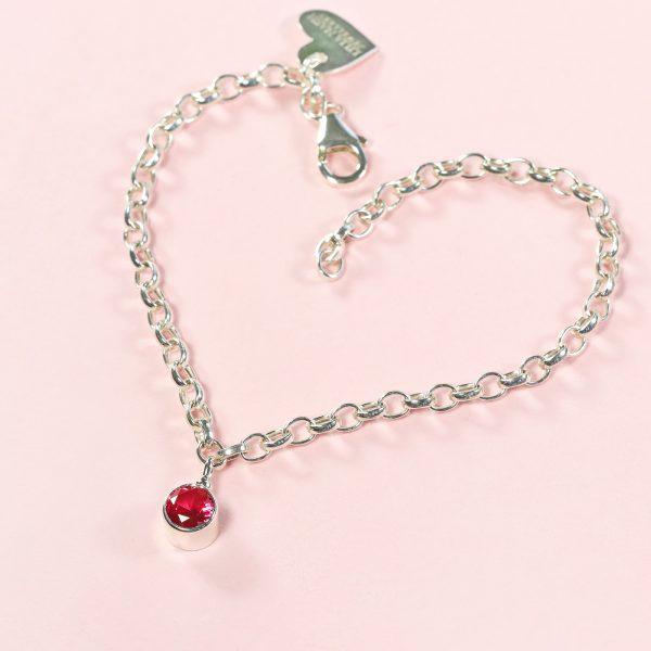 ruby birthstone bracelet