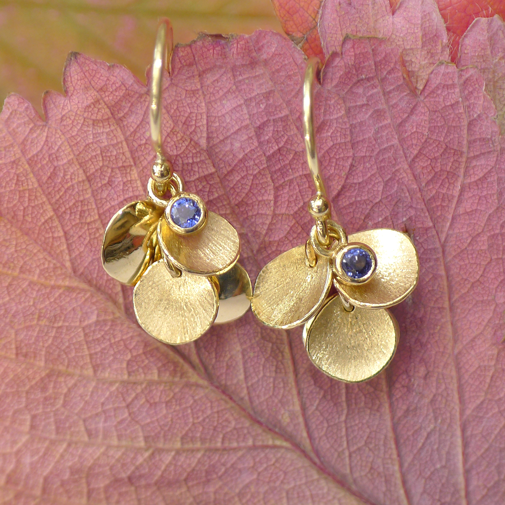 Blue Sapphire Earrings in 18ct Gold