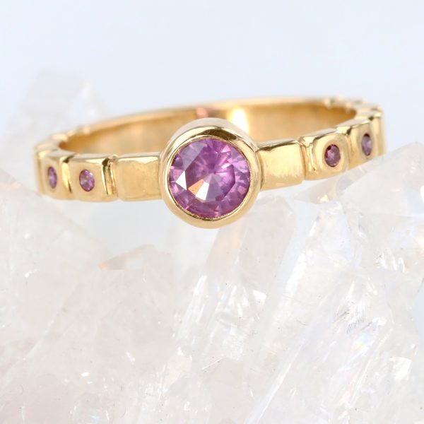 purple sapphire cobble ring